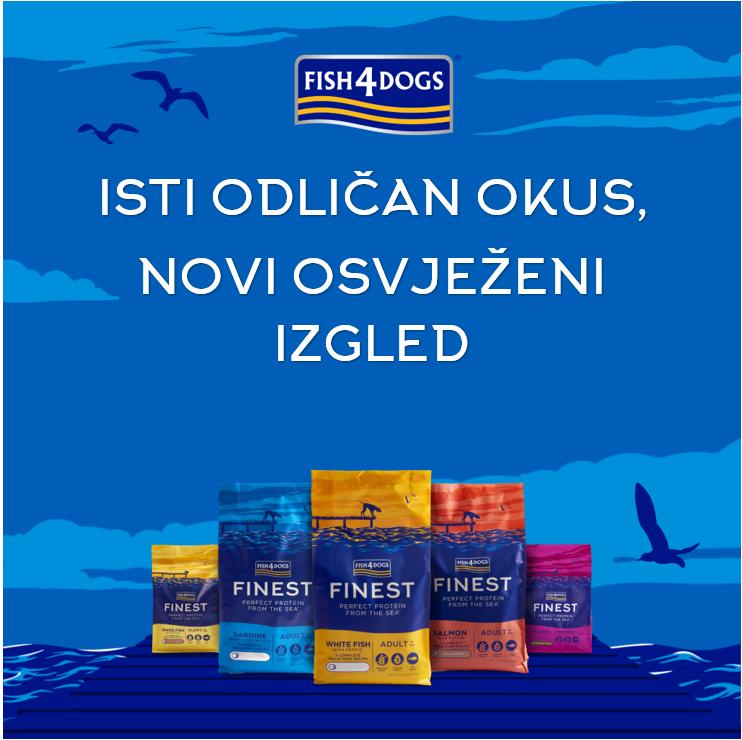 Nova, još ljepša pakiranja Fish4Dogs Finest proizvoda, ista odlična kvaliteta!